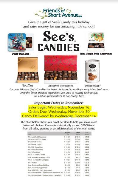 See's Winter Holiday Candy Drive