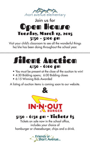 Silent Auction, Open House, In-N-Out Burger Truck
