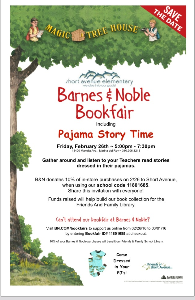 Barnes & Noble Book Fair and Pajama Story Time