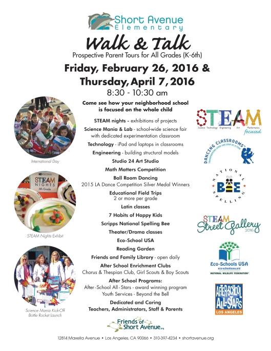 Short Avenue Walk & Talk Prospective Parent Tour