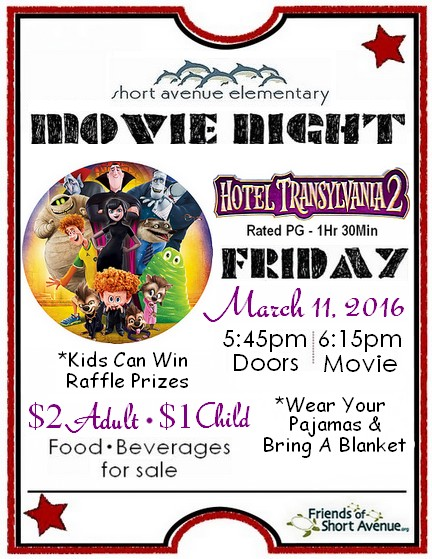 March Movie Night Hotel Transylvania