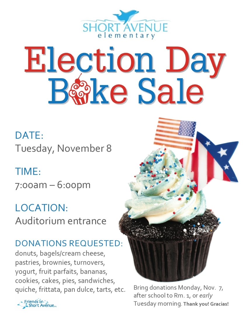 Election Day Bake Sale