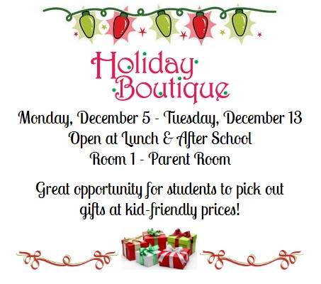 Holiday Boutique for Kids