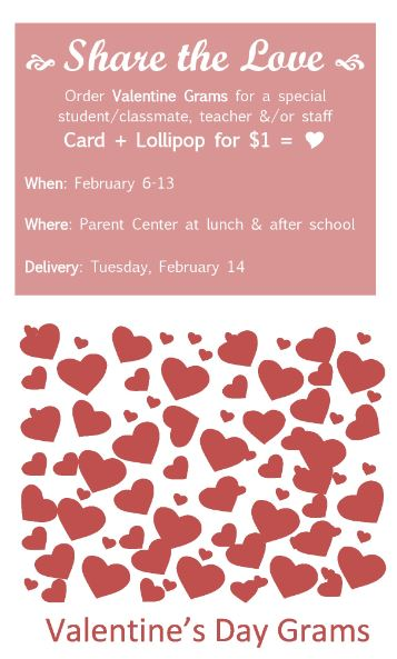 Valentine Grams for Short Avenue
