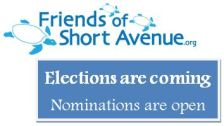 Friends of Short Avenue Annual Elections May