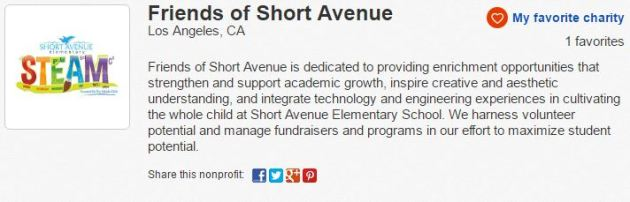eBay Charity Friends of Short Avenue