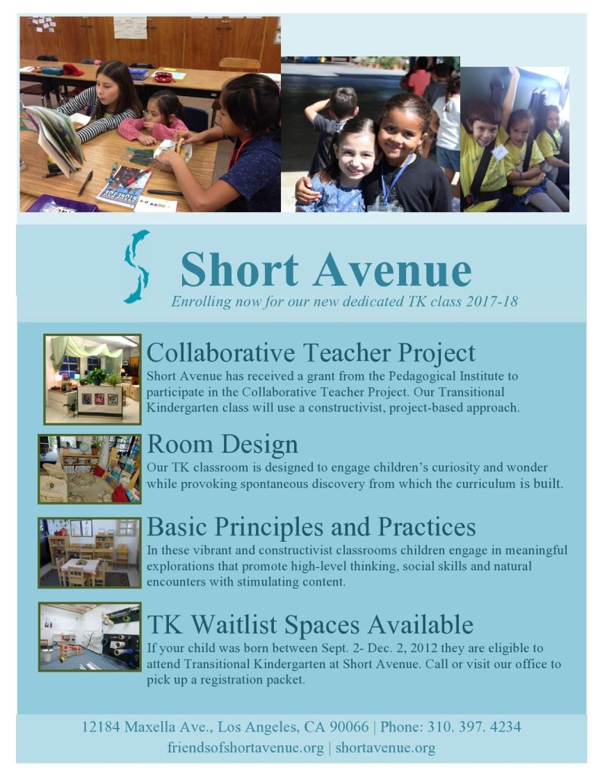 Short Ave Wins Collaborative Teacher ProjectGrant