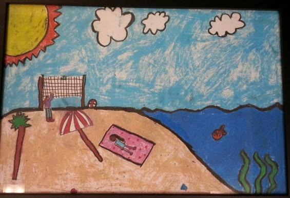 Mother's Beach by Jasmine De Baris, Silver Medal, Museum of Art, International Children's Art Contest