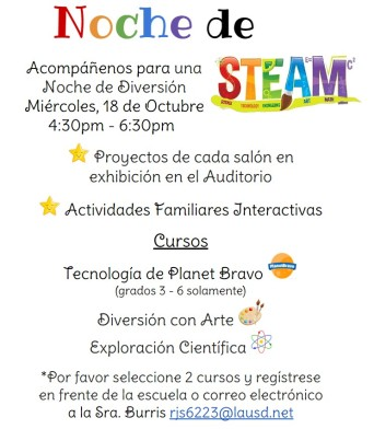 STEAM Night Span