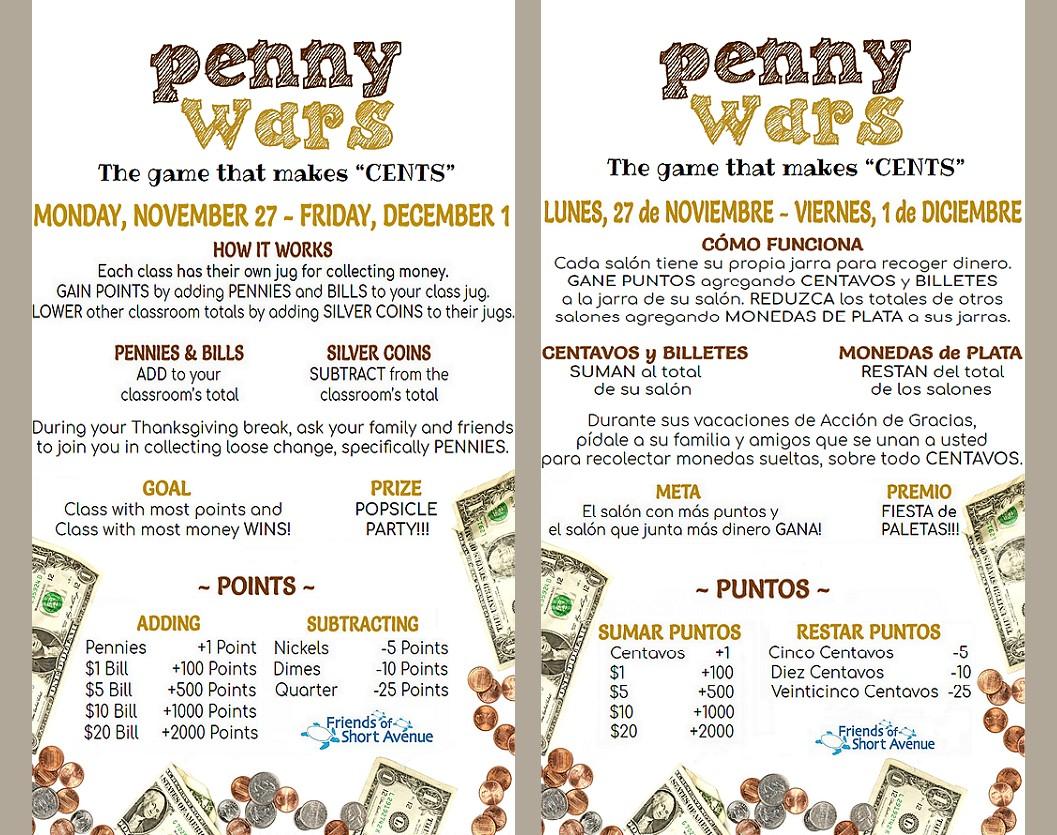 In N Out Menu >> Penny Wars Week! 11/27-12/1 – Friends of Short Avenue