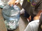 Short Avenue Elementary Penny Wars Money Jug
