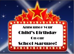 Happy Birthday marquee