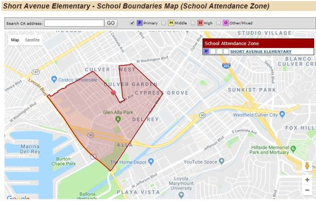 Short Avenue, Attendance Zone