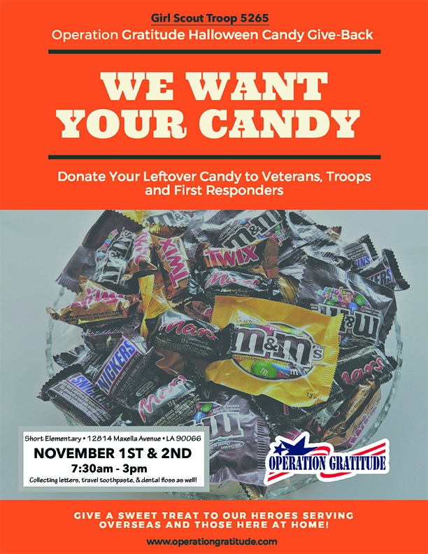 Operation Gratitude Halloween Candy Give Back