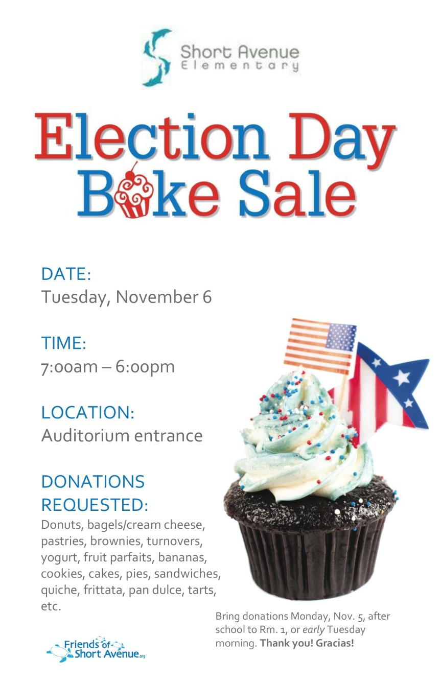 Election Day Bake Sale Fundraiser