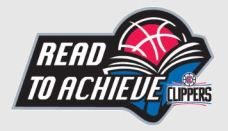 LA Clippers Read to Achieve Logo