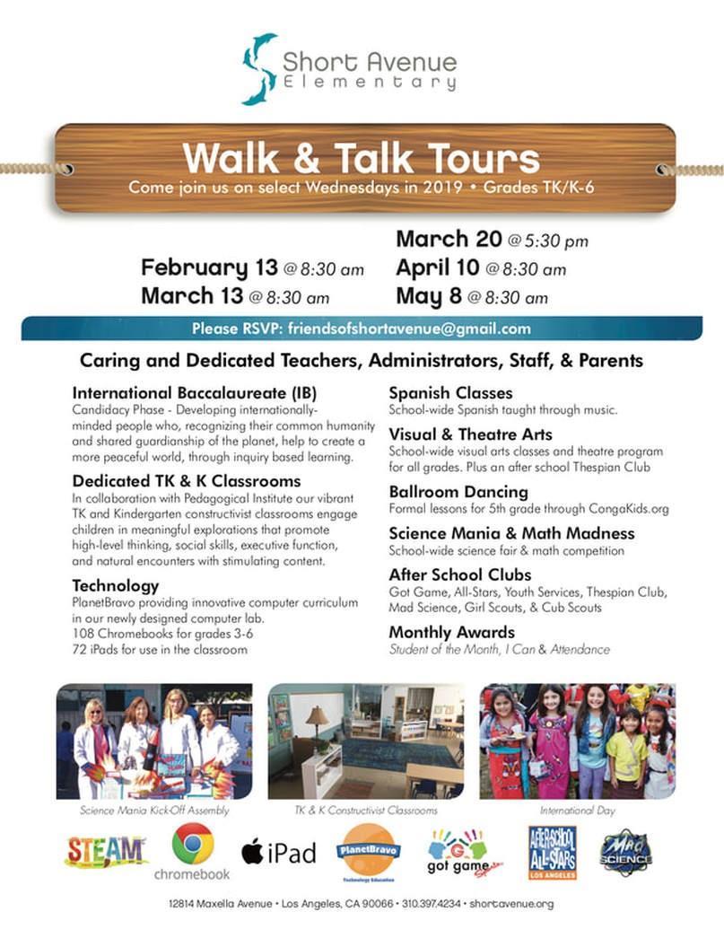 Short Avenue Elementary School Walk and Talk Prospective Parent Tour